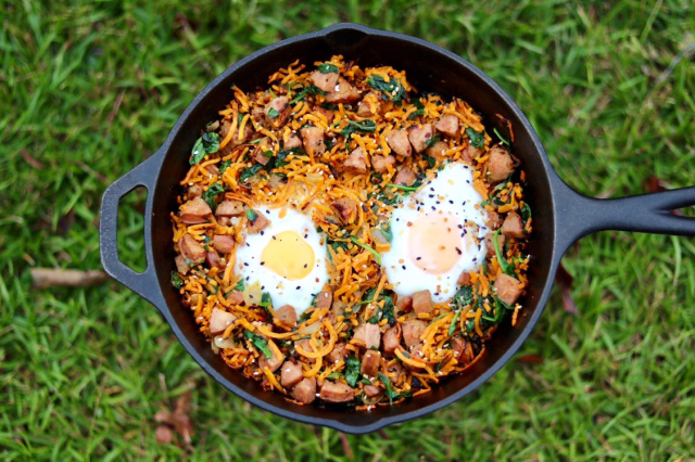 sweet potato noodle skillet